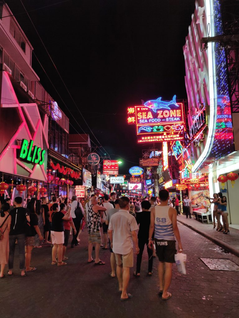 The walking street of Pattaya