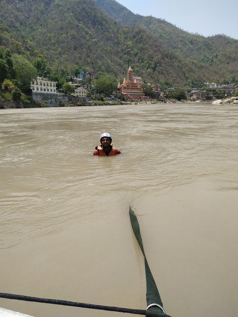 while river rafting in rishikesh