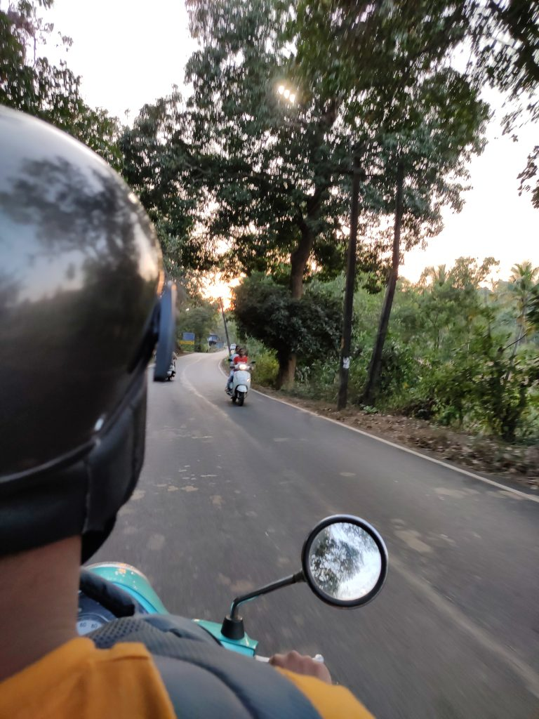 riding on the roads of Goa