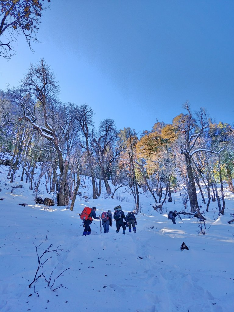 snow trek in India