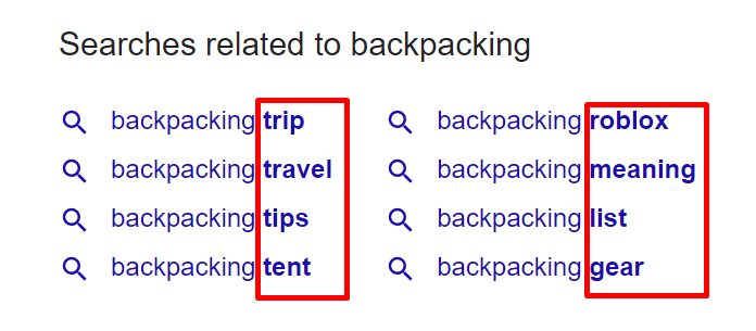 Search related to backpacking