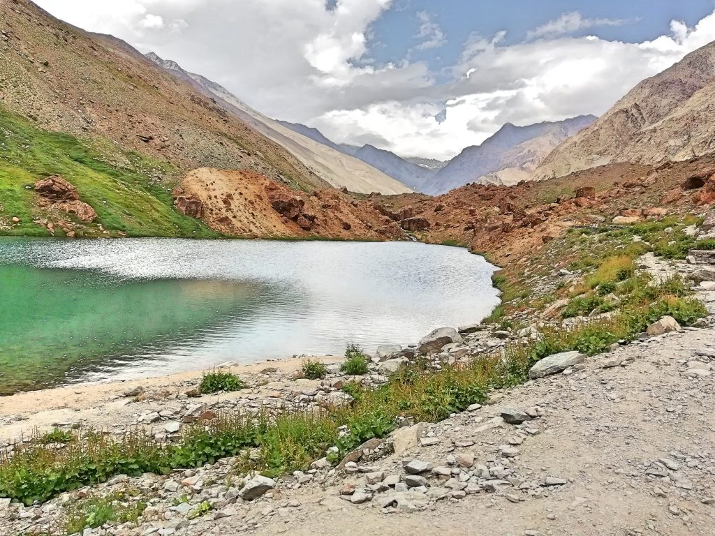 A small lake on the way to Leh